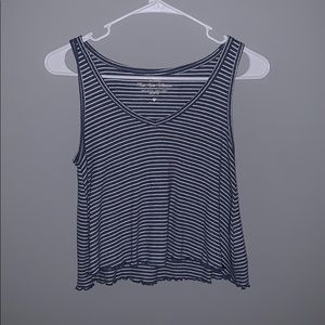 Hollister striped cropped top